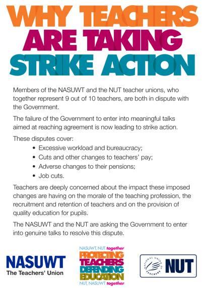 #JUNE27 UK Teachers Begin Escalated Action in NW.