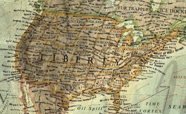 Map Of Slurs America